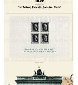 DR 1937 - 1st National Philatelic Exhibition