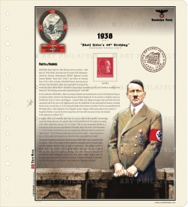 DR 1938 - Adolf Hitler's 49th Birthday