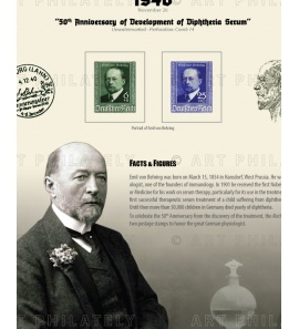 DR 1940 - 50th Anniversary of Development of Diphtheria Serum
