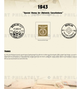 DR 1943 - Special Stamp for Philatelic Cancellations