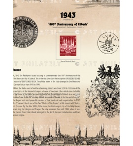 DR 1943 - 800th Anniversary of Lübeck