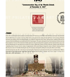 DR 1943 - Commemoration Day of the Munich Putsch of November 9, 1923