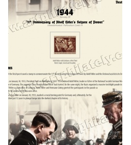 DR 1944 - 11th Anniversary of Adolf Hitler's Seizure of Power