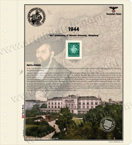 DR 1944 - 400th Anniversary of Albertus University, Königsberg