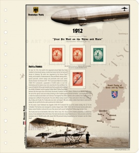 DR 1912 - First Air Mail on the Rhine and Main