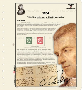 DR 1934 - 175th Birth Anniversary of Friedrich von Schiller