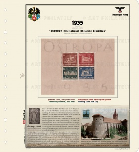 DR 1935 - OSTROPA International Philatelic Exhibition