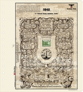 DR 1940 - 2nd National Stamp Exhibition, Berlin