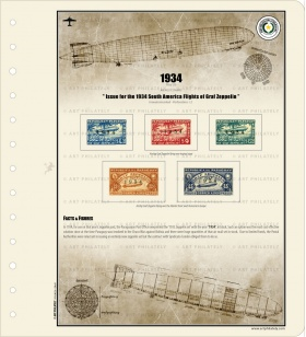 Paraguay 1934 - The 1934 South America Flights of Graf Zeppelin