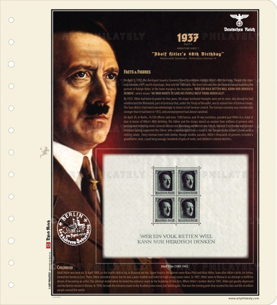 DR 1937 - Adolf Hitler's 48th Birthday