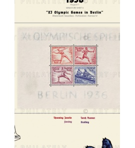 DR 1936 - XI Olympic Games in Berlin