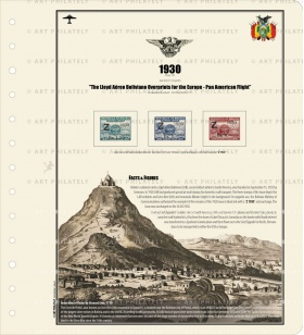 The Lloyd Aéreo Boliviano Overprints for the Europe - Pan American Flight