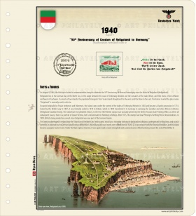 DR 1940 - 50th Anniversary of Cession of Heligoland to Germany